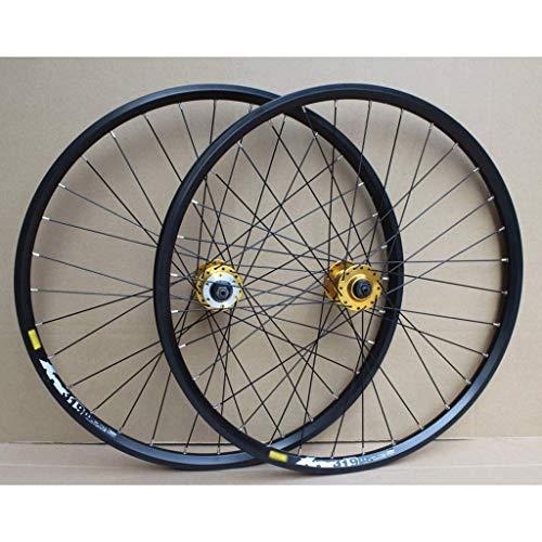 ZHTY Juego de Ruedas de Bicicleta MTB Disco de llanta de Doble Capa de 24 Pulgadas Rueda de Bicicleta de Freno de llanta 8-10 Velocidad 32H ✅