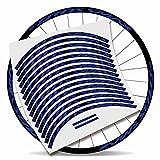 Kit Pegatinas Bicicleta Stickers LLANTA Mavic Crossmax Pro 29'' MTB BTT B (Azul Brillante)