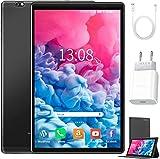Tablet 10 Zoll Android 10 64 GB (720p/1080p Full HD-Display) - 4GB ram 4G Dual-SIM/SD, Tablets Quad Core, Type C, 5MP+8MP Kamera, Große 8000mAh Akku Bluetooth WiFi Dünne und leichte Tablet PC -Black
