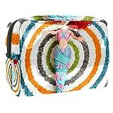 Bolsa de maquillaje portátil con cremallera bolsa de aseo de viaje para las mujeres práctico almacenamiento cosmético bolsa Ariel sirena juguetes muñeca