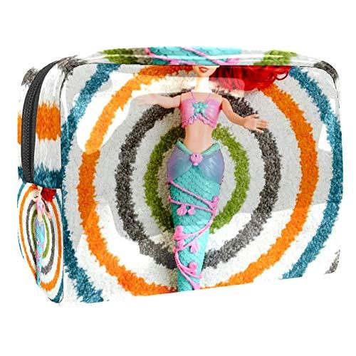 Bolsa de maquillaje portátil con cremallera bolsa de aseo de viaje para las mujeres práctico...