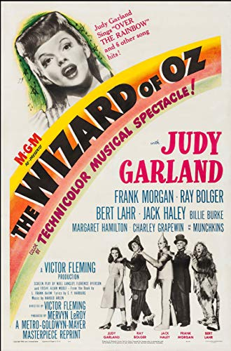 Theissen Vintage The Wizard of OZ Judy Garland Movie Film Poster/Print/Picture - Matte Poster Frameless Gift 11 x 17 inch(28cm x 43cm)*IT-00304