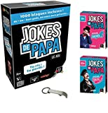 Lot Jeux Gigamic: Jokes de Papa + Extension Sucrée + Extension Salée + 1 Décapsuleur Blumie