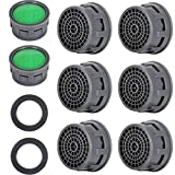 20 Sets Faucet Aerator with Gasket 2.2 GPM Sink Aerator Faucet Replacement Parts for Bathroom or Kitchen (Green)