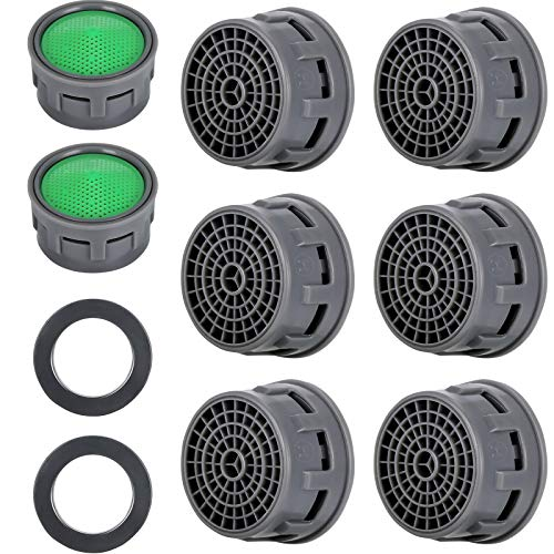 20 Sets Faucet Aerator with Gasket 2.2 GPM Sink Aerator Faucet Replacement Parts for Bathroom or Kitchen