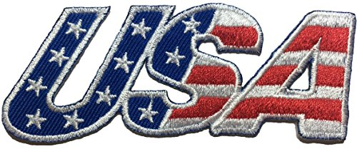 Ranger Return USA American Alphabet Flag Patch Sew Iron on Applique Embroidered Emblem Badge Patch (Iron-USA-Alphabet)