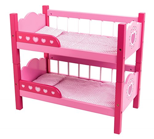 Dolls World 8612 - Literas para muñecas de hasta 46 cm, Color Rosa