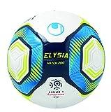 Uhlsport Elysia Match Pro-Ballons-Taille 5 Adulte Unisexe, Blanc/Metallic Bleu/Jaune, 5