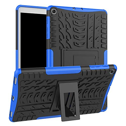 QiuKui Cases For Samsung Tab A 10.1inch 2019 T510/T515, Shockproof Tablet Bracket Shell Protective Skin Armor TPU PC Stand Cover For Samsung Tab A 10.1inch 2019 (Color : Blue)