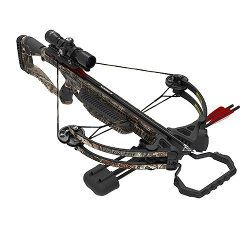 BARNETT 78132 Raptor FX3 Crossbow | Shoots 350 Feet Per Second | Package with Scope and 2 Bolts