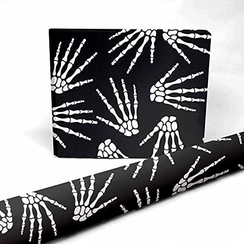 InterestPrint Bones of Human Hand Present Packing Paper 58 x 23 inch for Halloween Thanksgiving 3 Sheets