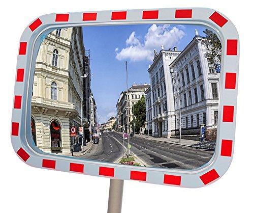 Verkeersspiegel rechthoekig 80 x 60 cm bewakingsspiegel observatiespiegel veiligheidsspiegel