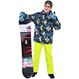 YABAISHI Traje de esquí Hombres Chaqueta de esquí a Prueba de Viento Sistema de Snowboard al Aire Libre Set Impermeable Terno Esqui Roupa de Skiing Traje de Esqui Hombre