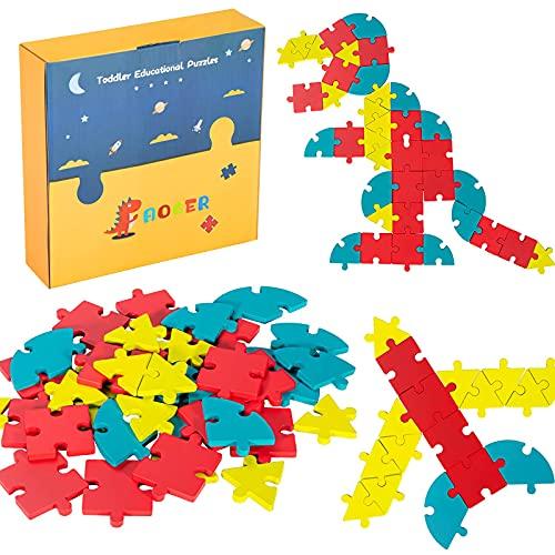 iNeego 40 Piezas Rompecabezas geométrico,Rompecabezas de...