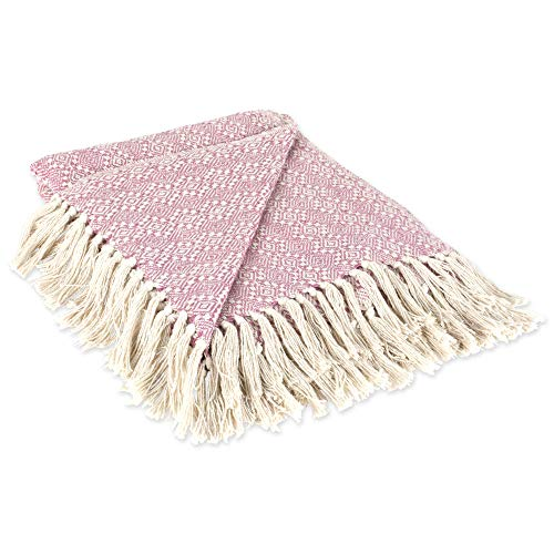 Beautiful Pink Throw Blanket with Fringes