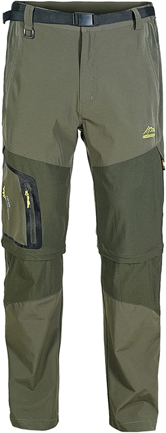 Men's Outdoor Quick Dry Lightweight Hiking Fishing Multi-pocket,Detachable Trousers Cargo Pants Work Pants Trousers