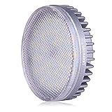 Lampaous LED GX53 8W, équivalent à 60 watt Ampoule halogène, Blanc chaud 3000k, forme cercle Ampoule encastrée, Non dimmable.