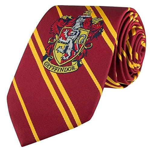 Cinereplicas - Harry Potter - Cravate Gryffondor - Écusson tissé - Taille Adulte - Authentique - Licence Officielle