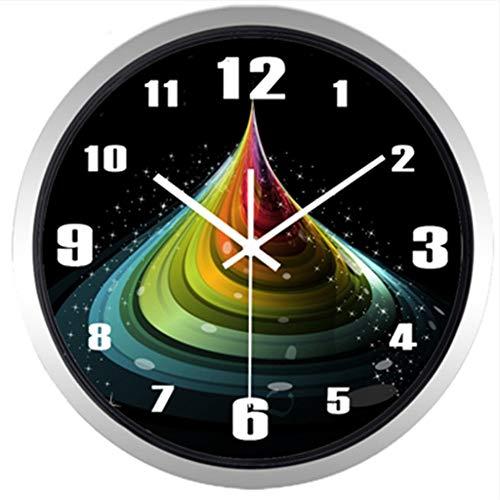 guyuell Résumé Rainbow Quicksand Wall Clock Design Mode Montre À Quartz À La Maison Décor, C
