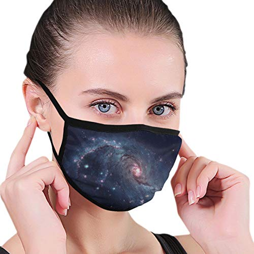 Funny Mouth Cover Dustproof Washable Reusable Spiral Galaxy Located In The Constellation Dorado Protective Safety Warm Windproof for Women Men