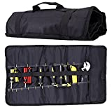 SIXWOOD Tool Roll Organizer Wrench Bag & Tool Pouch -...