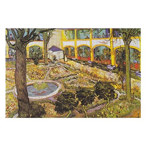 BLESFEST Rompecabezas de 300 piezas de jardín vintage del hospital en Arles Van Gogh para niños y adultos, juego de rompecabezas de regalo para niños y niñas, juguetes educativos de 10 x 15 pulgadas
