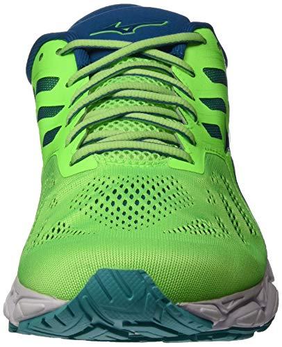 Mizuno Wave Ultima 11, Zapatillas de Running Hombre, Verde (Gecko/Blue Sapphire/Wht 16), 41 EU
