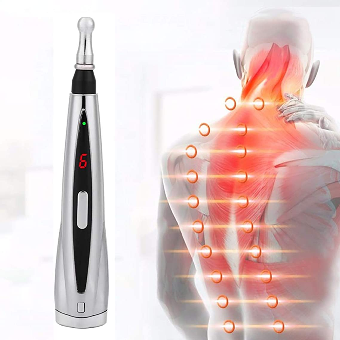 めったに検証で出来ている電気鍼治療マグネットペインリリーフ治療子午線エネルギーパルスマッサージペン強力な子午線救済ツール