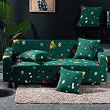 Findm Store, copridivano in stile natalizio, lavabile, in tessuto elastico, 1 pezzo, Christmas Style, 3 posti