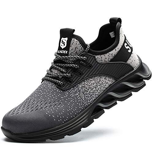 [JACKS HIBO] 安全靴 グレー あんぜん靴 メンズ レディース作業靴 通気性 鋼先芯 セーフティーシューズ 耐摩耗 工事現場 防刺 耐滑 ワークシューズ安全靴