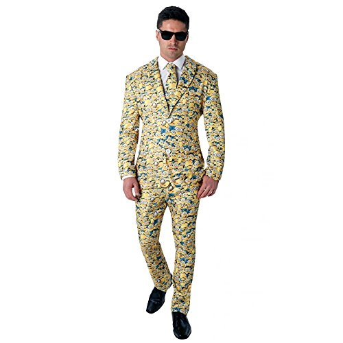 Rubie 's Offizielles Herren 's Minion Icon Anzug Crazy, Erwachsenen-Kostüm–X-Large