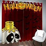 FACWAWF Cortina Decorativa De Halloween Patrón De Dibujos Animados En 3D Sala De...
