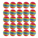 Hakka 25pcs EVA Foam Balls Practice Golf Balls - 42mm - Bulk Set of Golf Balls Indoor Training Aid Colored...