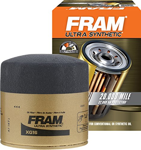 FRAM XG16 Ultra Synthetic Spin-On Oil Filter with SureGrip