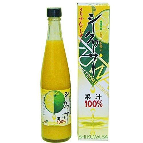 シークヮーサー果汁100% 500ml×1本 あさひ 香りのよい南国果実・シークワーサー100% ノビレチン豊富 水やジュースで割ってドリンクに