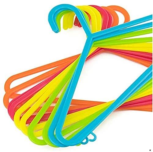 Rysons 40 Stück Kinder-Kleiderbügel für Kleidung, Kinder, Baby, mehrfarbig, rutschfest, starke Kunststoff-Kleiderbügel, 29 cm x 17 cm