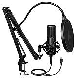 Best Condenser Mics - Maono AU-PM420 USB Podcast Condenser Microphone, Computer Mic Review