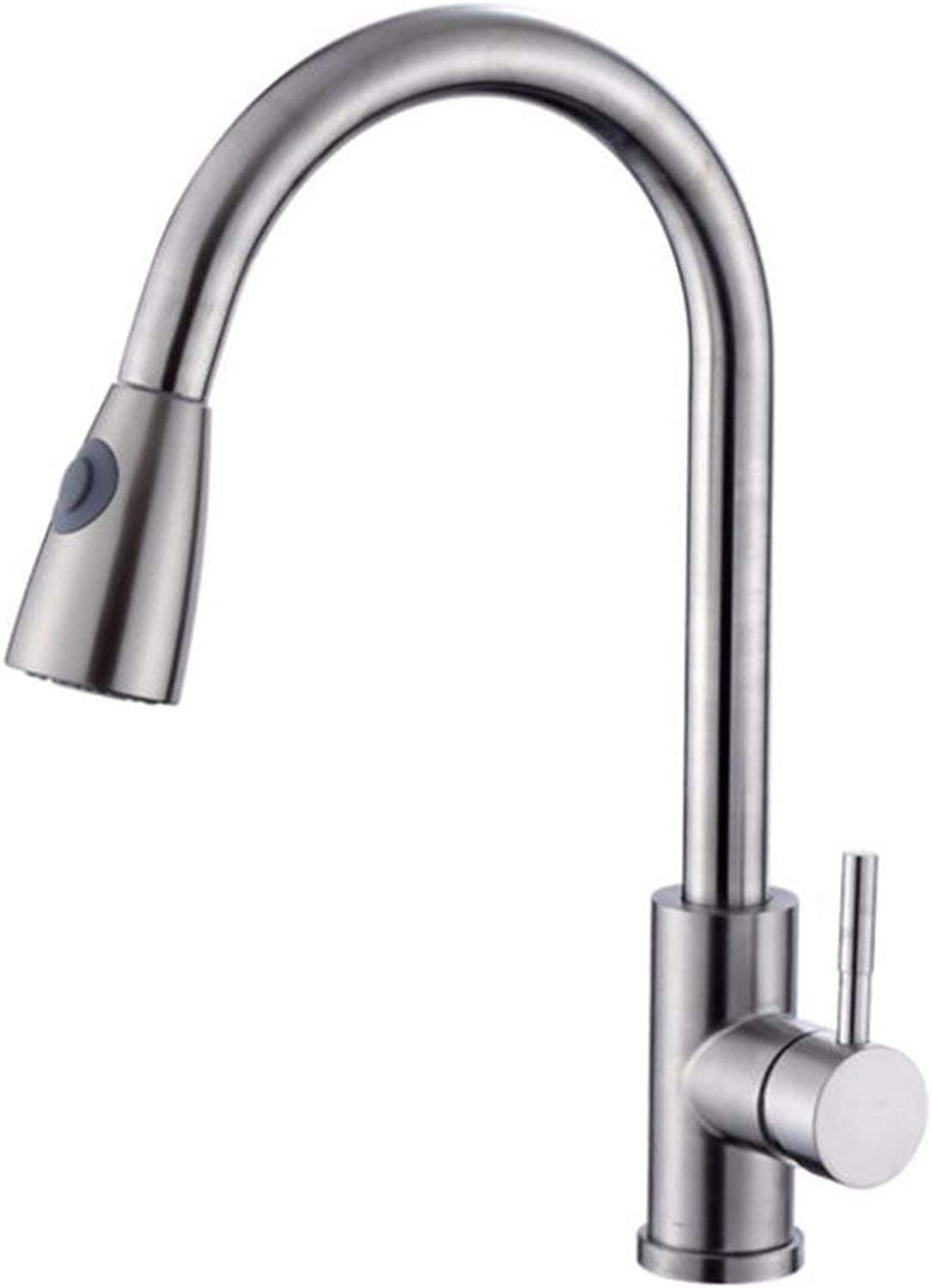 ZQG Faucet Water tap Taps Swivel Hoses Hot and Cold Retractable Pull Kitchen redating 304 Stainless Steel Household Sink Basin