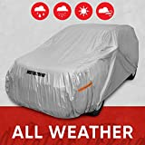 Motor Trend Safeguard Car Cover for Vans/SUV - Advanced Protection Formula All Weather Waterproof Outdoor Vehicle Cover, Fits Vans & SUVs up to 210' L (OV-642_N)