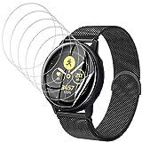 UniqueMe [6 Stück] schutzfolie für Samsung Galaxy Watch Active 2 44mm Folie, Soft HD TPU Clear Anti-Scratch Bildschirmschutz Galaxy Watch Active 2 44mm Bildschirmschutzfolie