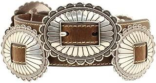 Women's Nocona Oval Concho Belt Brown MD