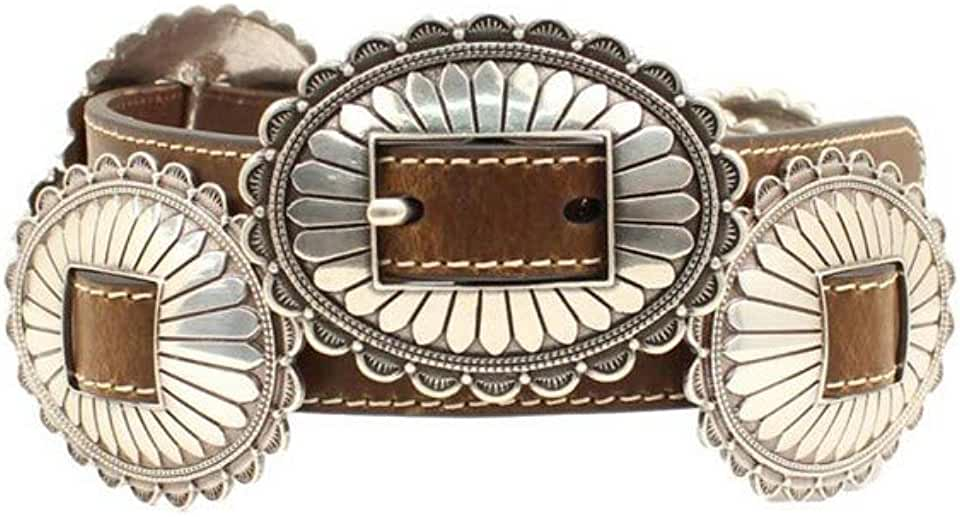 M&F Western Nocona Oval Concho Belt Brown LG