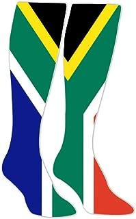 South Africa Flag Athletic Socks Knee High Socks For Men&Women Sport Long Sock Tube Long Stockings Christmas Sock