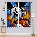 lacencn Mickey-Mouse - Cortinas para ventana, aislamiento térmico, eficiencia energética, para cortinas de ventana de guardería (76 x 45 cm)