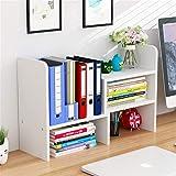 卓上収納ケース 木製 伸縮型 オフィス収納 本棚 書類 卓上整理 小物入れ 多機能 大容量 机上用品 多種組み立て方式 組み立て必要 DIY