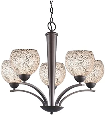 Metallic Bronze Woodbridge Lighting 13023MEB-C20602 North Bay 1-Light Mini-Pendant 6-Inch by 45-1//4-Inch