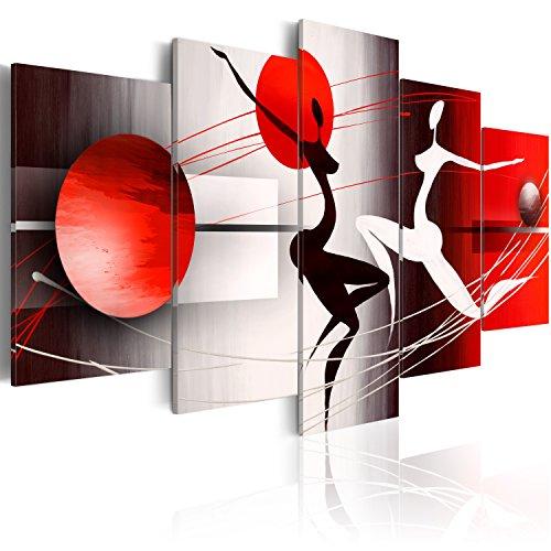 murando - Quadro 200x100 cm -Quadro su fliselina - Stampa in qualita fotografica - 5 Parti – Figura Astratto 42359