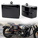 GZYF Side Battery Cover Compatible with Harley Dyna Low Rider FXDL, Fat Bob FXDF, Street Bob FXDB, Super Glide FXD, Wide Glide FXDWG, Switchback FLD 2006-2017, Glossy Black