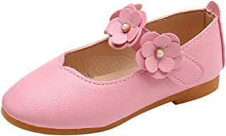 Little Story  Children Kid Baby Girls Solid Flower Student Single Soft Dance Princess Shoes