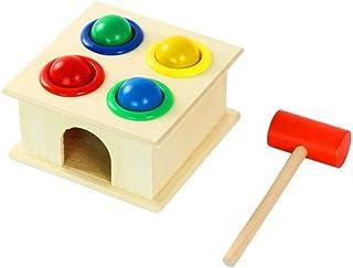 HTJSDC Wooden door toy hammer toys principle capacity decoration novelty beautiful safe desk Material Durable Multicolor p...